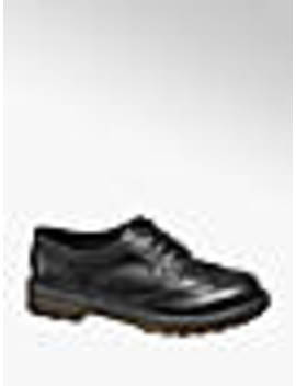 Ladies Black Chunky Lace Up Brogues by Graceland
