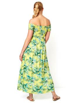 Tropical Bardot Maxi Dress by Roman Originals