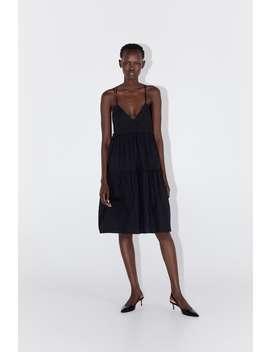 Strappy Poplin Dress Details by Zara