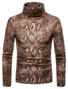 Turtleneck Slim Casual Men's Sweater by Tb Dress