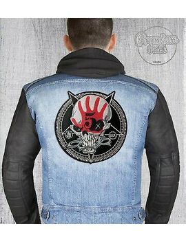 "Five Finger Death Punch (5 Fdp) Big Back Round Patch 26cm X 26cm / 10,23"" X 10,23 by Premium Patch Studio"