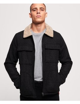 Mason Wool Blend Trucker Jacket by Superdry