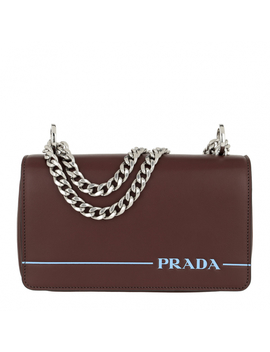 Logo Stripe Crossbody Bag Black 2 by Prada