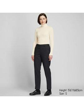 women-extra-fine-merino-wool-ribbed-turtleneck-jumper by uniqlo