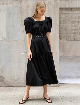 Mariana Puff Sleeve Belted Dress by Pixie Market