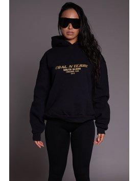 Blk N Gold Shimmer Burbs Hoodie by Coal N Terry