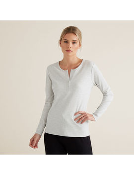 Henley Long Sleeve Top by Seed Heritage