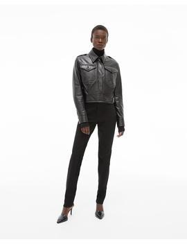 Pocket Leather Jacket by Helmut Lang