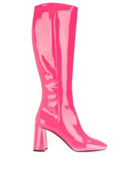 knee-high-mid-heel-boots by prada