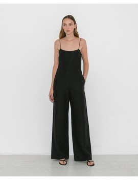 Black Camisole Jumpsuit by Le Merceau