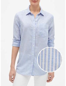 Boyfriend Shirt In Linen Cotton by Gap