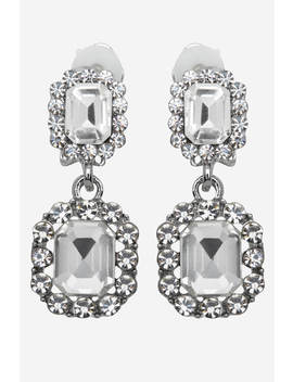 Clip On Drop Earrings by Roman Originals