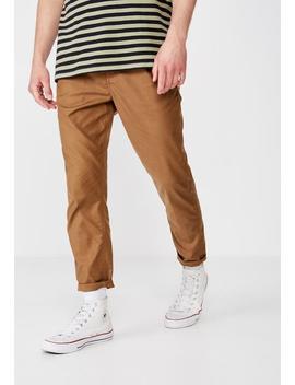 Oxford Trouser   Tan by Cotton On