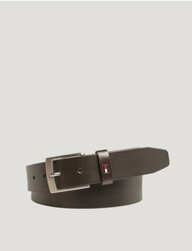 Tommy Hilfiger Barnkläder   Adan Leather Belt 3.5   Brun. by Kids Brabd Store
