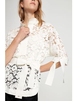 Lace Top With Grosgrain by Ch Carolina Herrera