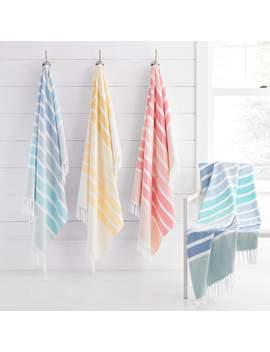 Bodrum Fouta Beach Towels by Kassatex