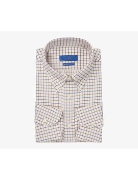 Jort Brown Check Flannel Shirt by Suitsupply