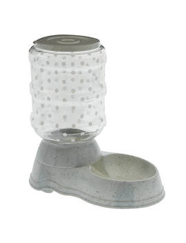 Grreat Choice® Polka Dot Gravity Pet Feeder by Great Choice