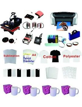 8in1 Professional Sublimation Heat Press Machine Epson Printer C88 Ciss Kit by Smart