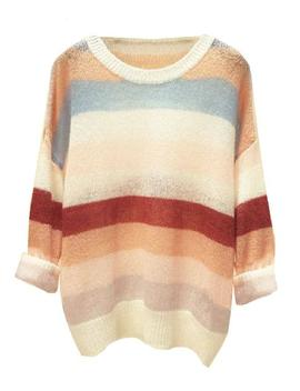 'hettie' Color Block Mohair Sweater (2 Colors) by Goodnight Macaroon