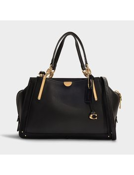 Dreamer 36 Bag In Black Mixed Leather With Pebble Calfskin by Coach