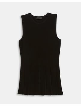 Pleated Peplum Top by Theory
