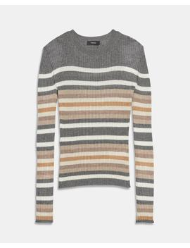 Striped Cashmere Crewneck by Theory