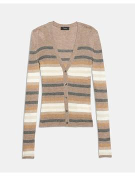Striped Cashmere Cardigan by Theory