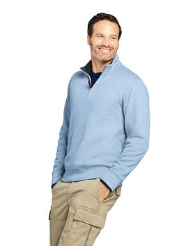 Men's Bedford Rib Quarter Zip Sweater by Lands' End
