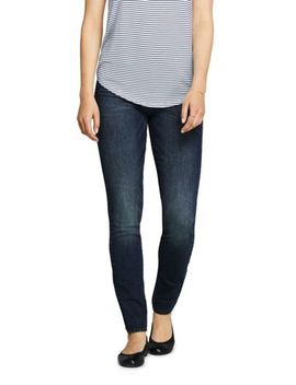 Women's Curvy Elastic Waist High Rise Pull On Skinny Legging Jeans   Blue by Lands' End