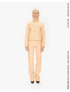 Femme Trucker Raw Leather Jean Jacket by Helmut Lang