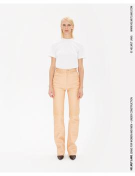 Femme Hi Bootcut Raw Leather Jeans by Helmut Lang