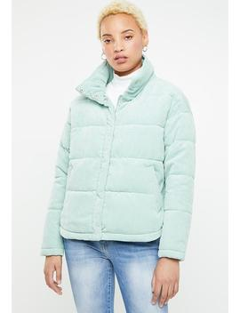 Evie Padded Jacket   Green by Only