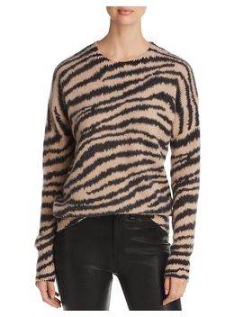 zebra-stripe-brushed-cashmere-sweater---100%-exclusive by c-by-bloomingdales
