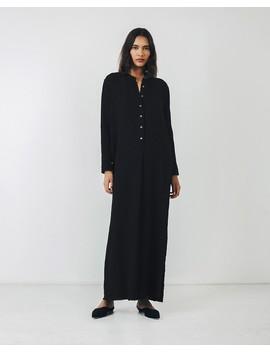 Black Henley Maxi Dress by Raquel Allegra