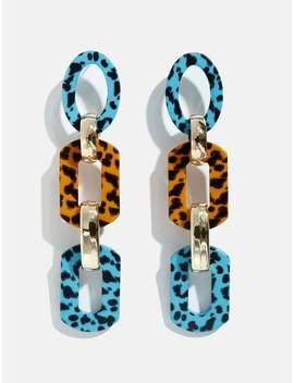 Leopard Resin Drop Earrings by Skinny Dip