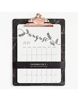 2019 2020 Marble Clipboard Calendar by Paper Source