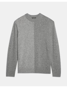 Cashmere Color Block Crewneck by Theory