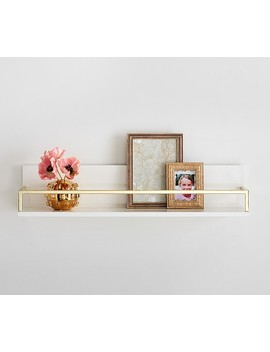Polished Shelving, White/Gold, 2ft by Pottery Barn Kids