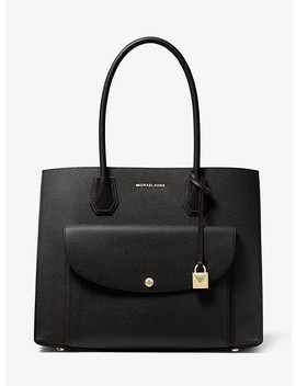Mercer Extra Large Pebbled Leather Pocket Tote Bag by Michael Michael Kors