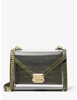 Whitney Large Clear And Leather Convertible Shoulder Bag by Michael Michael Kors