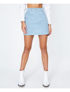 Rosie Cord Skirt Baby Blue by General Pants Co