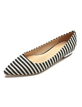 Women's Flats Flat Heel Pointed Toe Cotton Comfort Spring & Summer Black / Blue / Striped  #06805125 by Lightinthebox
