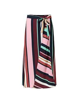 Cutabout Multicoloured Stripes Midi Skirt by Olivar Bonas