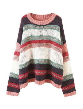 'regis' Color Block Knitted Sweater (2 Colors) by Goodnight Macaroon