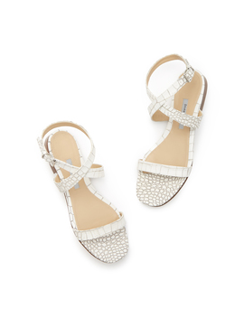 Siena Croc Embossed Sandals by Emme Parsons