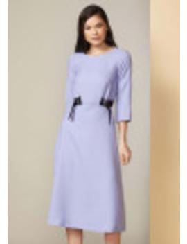 Pale Lavender Double Tie Detail Midi Dress by Closet