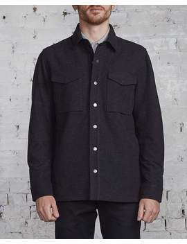 Wings + Horns Stretch Twill Cpo Jacket Black by Less 17