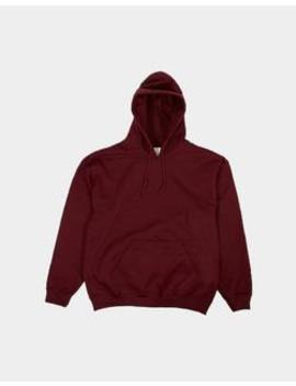Classic Overhead Hoodie Burgundy by The Idle Man