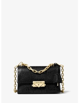 Cece Extra Small Python Embossed Leather Crossbody Bag by Michael Michael Kors